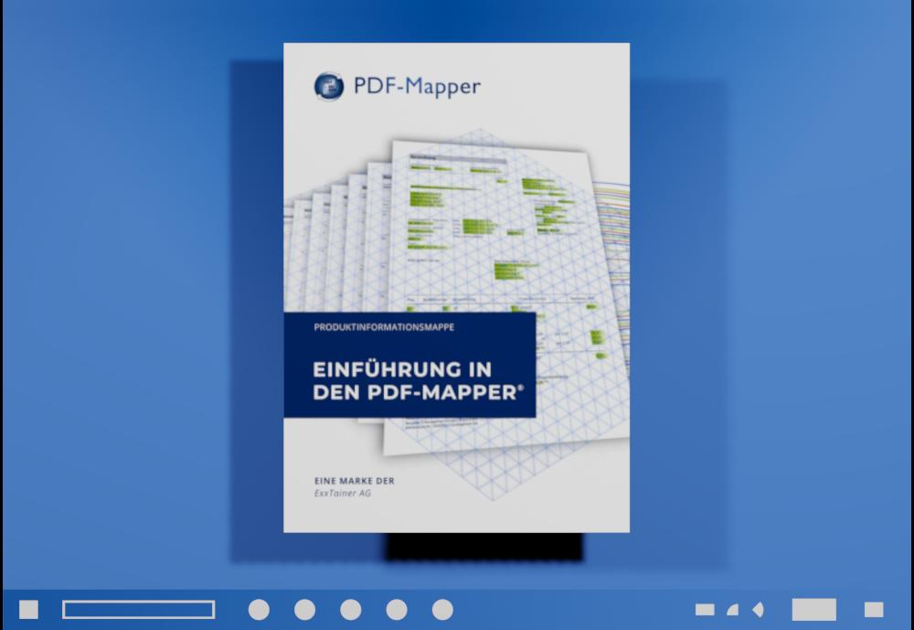 PDF-Mapper Hauptmenü